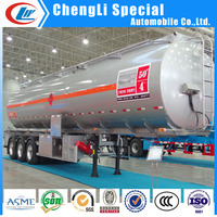 crude palm oil tanker semi trailer oil tank transport semi trailers oil tanker tailers 60cbm for sale
