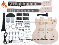 Shengque Hand Made Double Neck Electric SG Guitar Kit