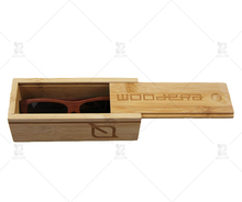 Custom bamboo wood box for sunglasses