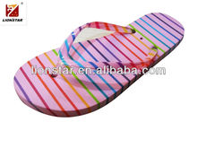 2013 stripe beach slipper, flip flop manufacturer