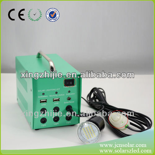 20W/12AH simple operation solar power system for lighting