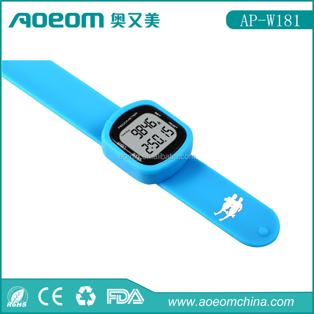 Step count USB Pedometer Watch / Calories/ Distance Pedometer/10 steps buffer error correction