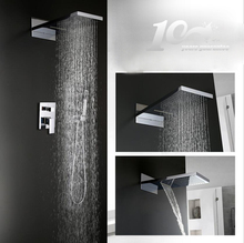 High quality china wall mount bath shower set, bathroom concealed shower set