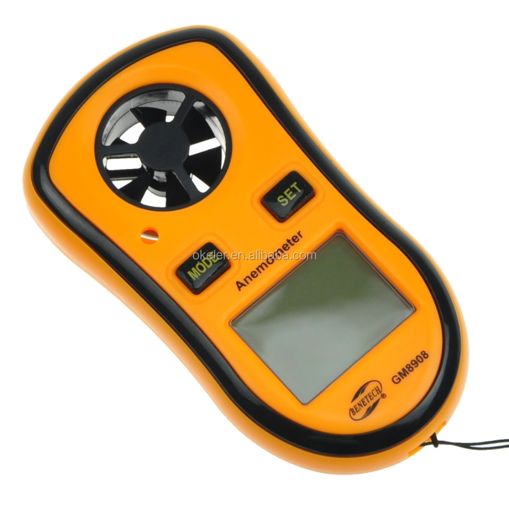 Digital Portable Handheld Wind Vane Speed Measuring Meter Anemometer with Thermometer