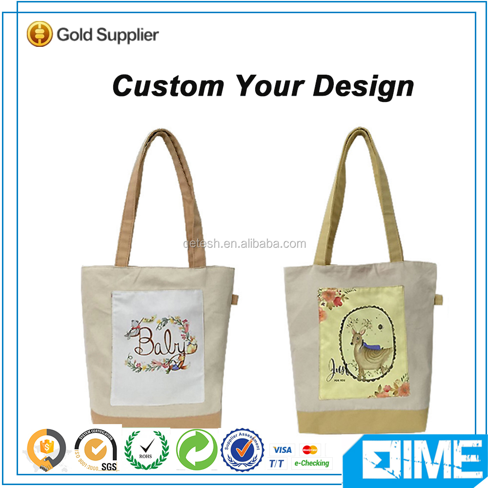 expandable Eco Friendly Carry Cotton Stock Tote Bag