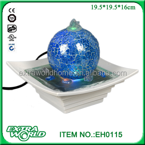 Glass ball feng shui indoor tabletop water fountains