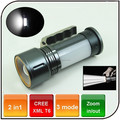 Waterproof powered by 18650 rechargeable battery 10w led camping flashlight portable lamp