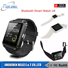 Promotion Bluetooth Écran Tactile Intelligent Montre-Bracelet Android Montre Smart Watch U8 avec altimètre