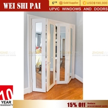 Ready Made Soundproof Veranda Bifold Doors , Wholesale Decorative Glass Lowes Inch Used Storm Bi Fold Doors