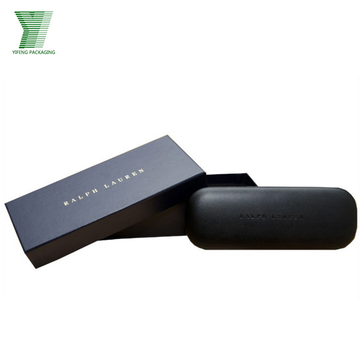 luxury eyewear packaging sunglass paper box with pouch wholesale
