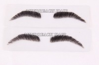 stocks styles pu base real human hair handtied natural three-dimensional eyebrows
