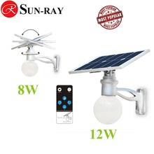 8w all-in-one high luminous Solar Moon Light, solar garden light with remote control and microwave sensor