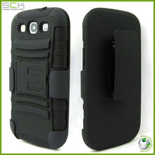 case with clip holder for samsung galaxy s3, cell phone case for samsung galaxy s3