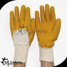 SRSAFETY industrial latex rubber hand gloves in china ,best latex gloves with free sample