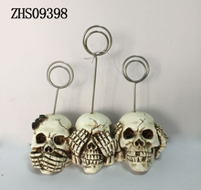 Factory Directly Epoxy Resin Halloween Deco Heads Skull Resin
