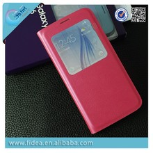 Newest Window Flip Case For Samsung S6 G9200 book style