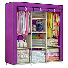 2018 home furniture colorful cheap price portable wardrobe available with large space Storage Clothes