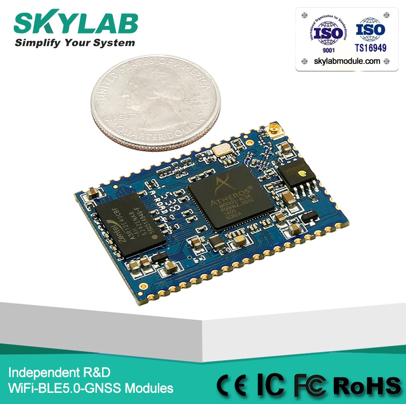 SKYLAB SKW72 802.11b/<strong>g</strong>/n AR9331 Wireless Router UART to WiFi Module Openwrt Wireless Routers