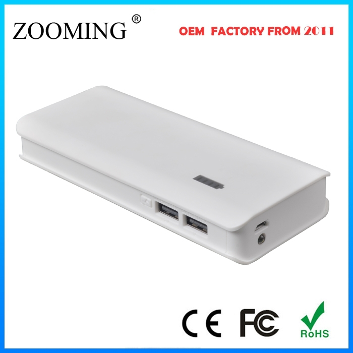 With intelligent touch button and big portable 10000mah powerbank for mobile phones