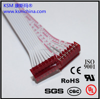 KSM electrical cable assemble Custom Flat Ribbon Cable Assembly with Micro Match 1.27mm Red IDC Socket and Red IDC Socket