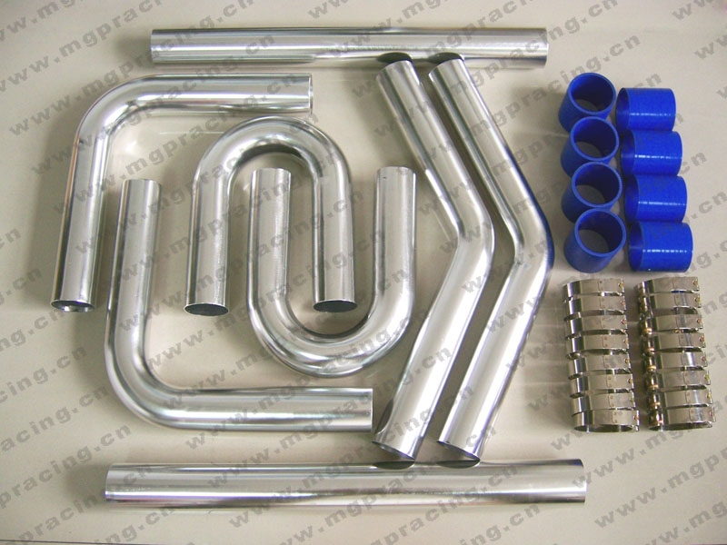"UNIVERSAL TURBO BOOST INTERCOOLER PIPE KIT 2.5"" 63mm Hose PIPING 8 PCS"