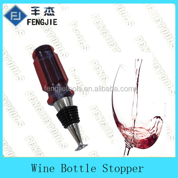 Novelty Wine Glass Bottle Stopper