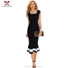 2015 Bundle Clothing Plus size model of office dress Sexy fishtail White and Black knittig Thin waist skirt women without wear