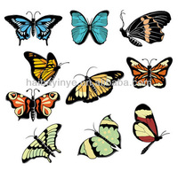 cheap colored butterfly decorative removable decal stickers china