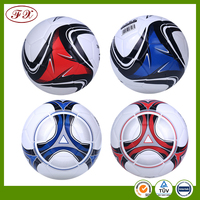 Promotional official size and weight soccer products pvc custom rubber bladder football ball