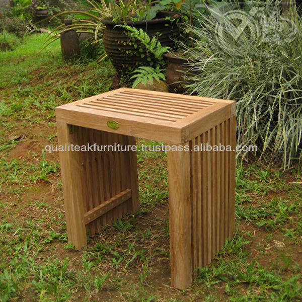 Teak Wooden Stool For Outdoor Or Spa Chairs For Cheap Price