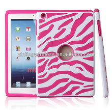 New Zbra stripe PC+silicone case for ipad mini