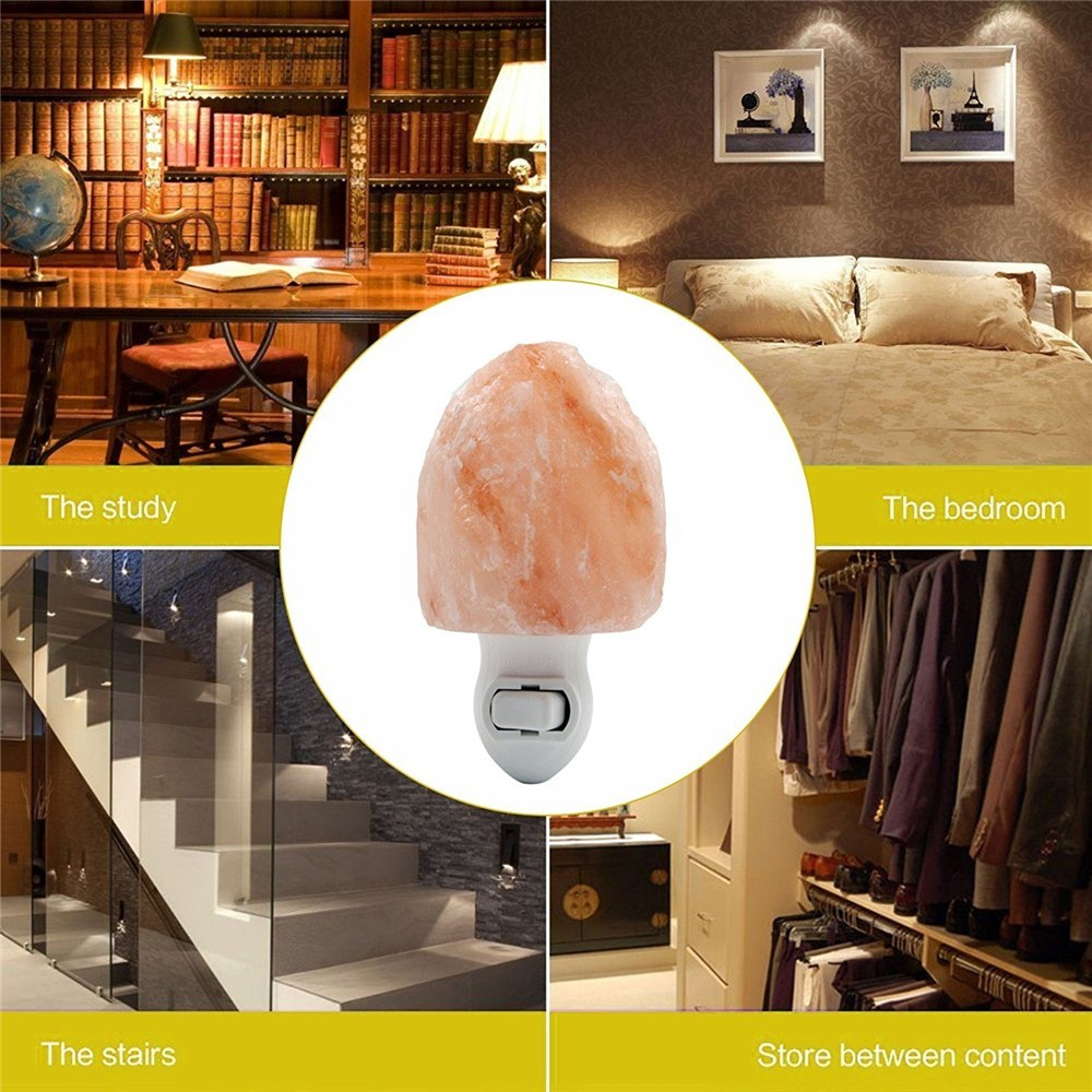 Himalayan rock crystal natural salt wall night lamp light
