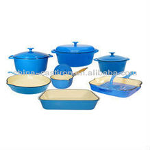 blue or orange enamel cookware set healthy cookware