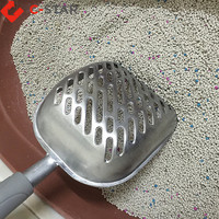High quality cat litter shovel and scoop with deep shovel upgrade solid core long handle aluminu