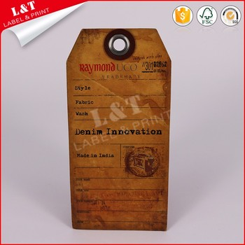 Fast Deliver Printable Brown Kraft Tags