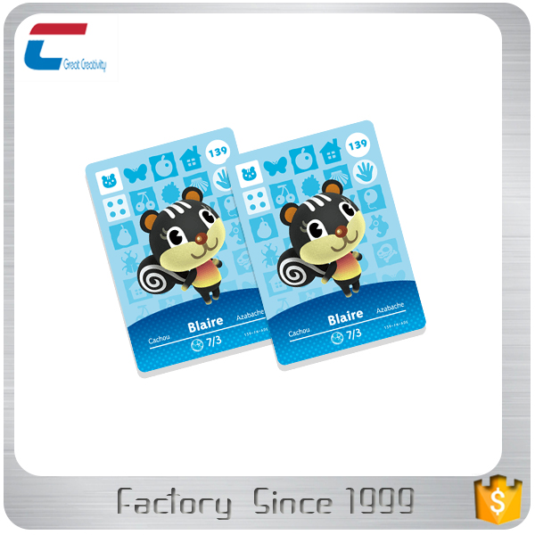 Hot selling Animal crossing NTAG 215 Amiibo NFC en-enabled cards