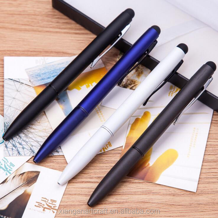 581005 aluminum body promotional advertisement business signature ballpen with touch screen head stylus rotation ballpoint pen