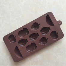 2017 NEW Arrival LFGB chocolates molds or silicone molds for chocolate or fruit shaped chocolate mould