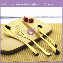 QT40470 china factory direct production wholesale dinnerware Gilded wedding Knife and fork spoon table cutlery