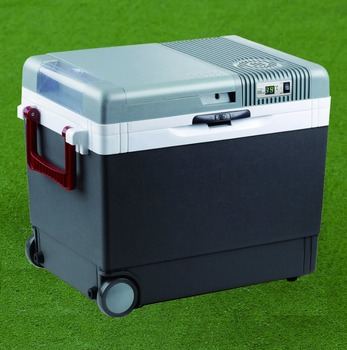camping electric cooler box mini display fridge with digital LED display with wheels 33L ErP