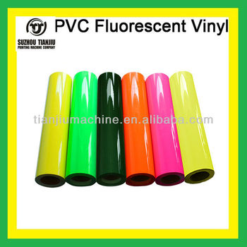Heat transfer fluorescent pvc vinyl-6 colors
