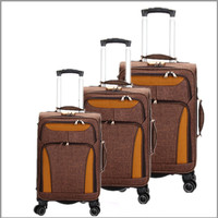 china suplier quality nylon material 3 piece suitcase sets strong luggage classic trolley bag