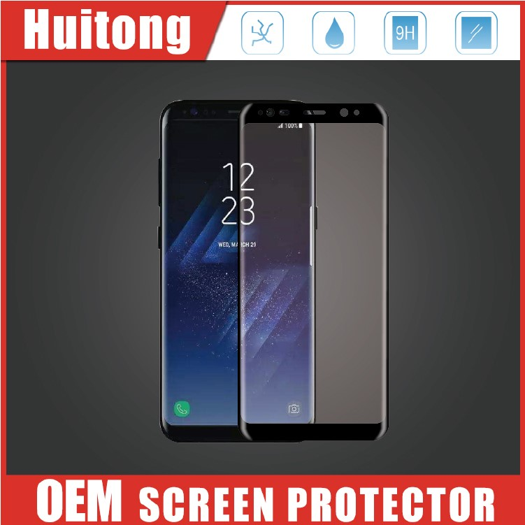 2017 Newest 3D For Samsung S8 Tempered Glass 0.33mm 9H Anti-finerprint Premium S8 Screen Protector