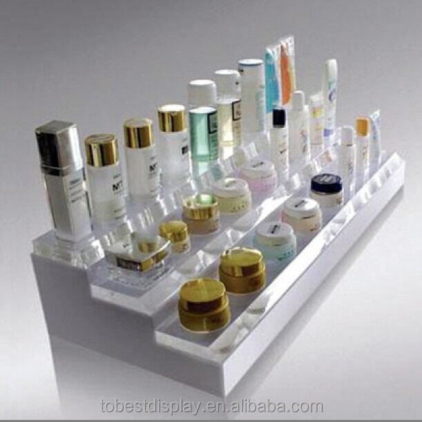 Custom retail shop fashionable acrylic cosmetic display unit