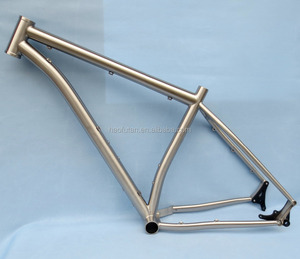 Titanium 19 inch DI2 fat bike frame 26 inch wheel 4.0 tires mtb replaceable drop external cable routing frame