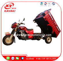 KAVAKI Motor 200CC Loading 800kg Van Cargo Three Wheel Cargo Tricycle For Sale