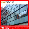Semi-exposed framing curtain wall design aluminum frame glass building