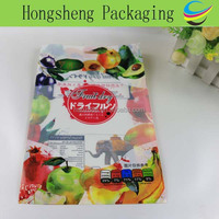 China Packaging manufacturer supplies heat sealing laminating plastic food grade packaging for organic dried fruits