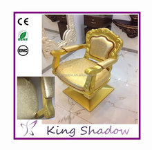 gold throne chair yellow styling chair salon stylist chair