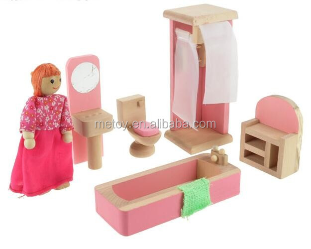 Traditional wooden toy furniture miniatures for dollhouse scale 1 12